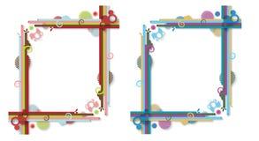 Del extracto marcos colorido Imágenes de archivo libres de regalías