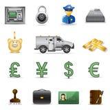 del för 3 finanssymboler stock illustrationer