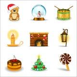 del för 3 julsymboler vektor illustrationer