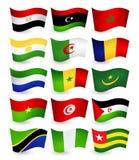 Del 1 för flaggor för Afrika landsflyg fastställd Arkivbild