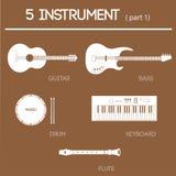 del 1 för 5 instrument Fotografering för Bildbyråer