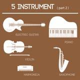 del 2 för 5 instrument Arkivbilder