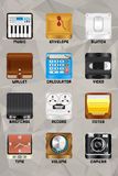 Del 3 för mobil enhetsymboler v2.0 Fotografering för Bildbyråer