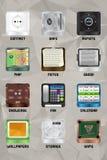 Del 5 för mobil enhetsymboler v2.0 Fotografering för Bildbyråer