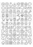 Del 1 för 88 symboler för översikt UI Arkivbild
