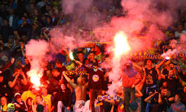 Del fútbol ultras de los partidarios ultra Foto de archivo libre de regalías