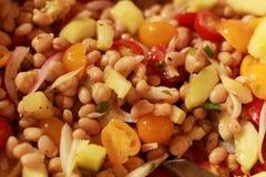 Del fagiolo bianco dell'insalata fine su Immagini Stock Libere da Diritti