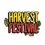 ` Del festival de la cosecha del ` de la inscripción en un fondo blanco Imágenes de archivo libres de regalías
