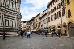 Del Fiore Piazza Duomo de Florence Cathedral Basilica di Santa Maria Photographie stock