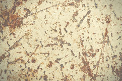 Del fondo del metallo graffiato ed arrugginito della pittura della sbucciatura, vecchio immagini stock libere da diritti