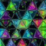 Del fondo il poli triangolo strutturato astratto in basso modella in casuale Fotografie Stock