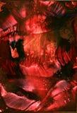 Del fondo rosso di colore di acqua caverna scura encaustic astratta e nero di toni, struttura, profonda, carta da parati fotografie stock