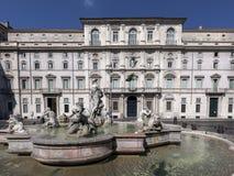 del fontana意大利莫罗navona广场罗马 免版税库存照片
