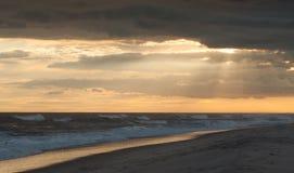 Del fuego de la isla puesta del sol pre Foto de archivo libre de regalías