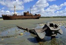 del Fuego statku tierra wrak Fotografia Royalty Free