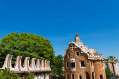 Del Guarda - Gaudi della casa - parcheggi Guell Immagine Stock