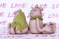 ` Del ` del hombre del ` de los juguetes y de la mujer del ` de la pasta y de la sal Imagen de archivo libre de regalías