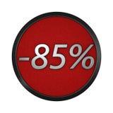 ` Del icono del descuento - ` del 85% Ejemplo gráfico aislado representación 3d Imagenes de archivo