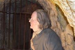 14/01/2018 del infierno de las cuevas del fuego, Wycombe del oeste Sir Francis Dashwood y Benjamin Franklin Imagen de archivo