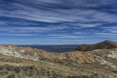 del isla κολλοειδές διάλυμα Νησί του ήλιου boleyn Λίμνη Titicaca Νότος Α στοκ φωτογραφίες