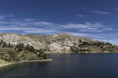 del isla κολλοειδές διάλυμα Νησί του ήλιου boleyn Λίμνη Titicaca Νότος Α στοκ φωτογραφία με δικαίωμα ελεύθερης χρήσης