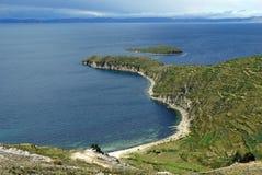 del Isla jeziorny zolu titicaca Obraz Stock
