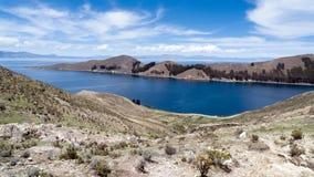 del Isla jeziorny zolu titicaca Fotografia Royalty Free