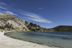 del isla sol Остров Солнця bolivians Озеро Titicaca Южное a стоковое фото