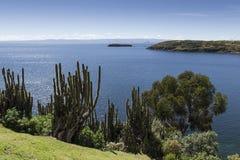 del isla sol 太阳的海岛 流星锤 Titicaca湖 南A 免版税库存照片