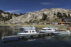 del isla sol 太阳的海岛 流星锤 Titicaca湖 南A 免版税库存图片