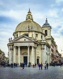 del Italy piazza popolo Rome Obraz Stock