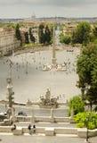 del Italy piazza popolo Rome Zdjęcia Royalty Free