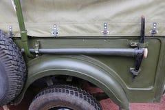 Del jeep del camino - piqueta en lado Fotografía de archivo libre de regalías