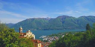 del Jezioro Locarno madonna maggiore sasso Obrazy Stock