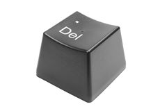 Del keyboard key isolated Stock Photo