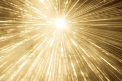 Del laser de la demostración de los rayos funcionamiento de oro del evento del partido de la vida nocturna en la parte superior Fotografía de archivo