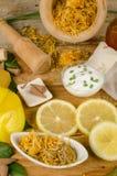 Del limón todavía de los cosméticos vida natural Imagen de archivo