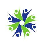 Del logotipo del trabajo en equipo hombres de negocios Imagen de archivo