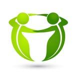 Del logotipo del trabajo en equipo hombres de negocios verdes Fotografía de archivo libre de regalías