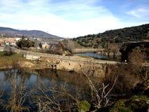 Del Lozoya Buitrago - старый городок в центральной Испании Стоковая Фотография RF