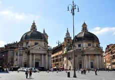 del ludzie piazza popolo Rome s kwadrata Fotografia Royalty Free