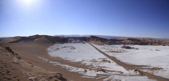 Del Luna - vallée de Valle de la lune, dans l'atacama, piment images libres de droits
