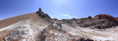 Del Luna - valle di Valle della luna, in atacama, peperoncino rosso Fotografie Stock