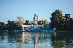 del Madrid parque retiro Obraz Royalty Free