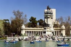 del Madrid parque retiro Zdjęcie Royalty Free
