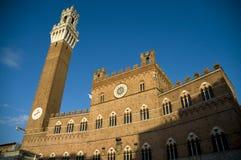 del mangia Σιένα της Ιταλίας torre Στοκ Φωτογραφία