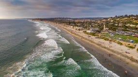 Del Mar,加利福尼亚从上面 免版税库存图片