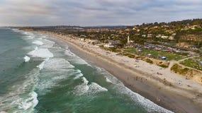 Del Mar,加利福尼亚从上面 免版税库存照片