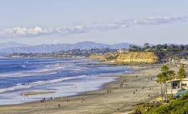 Del Mar海滩,南加州 免版税库存图片