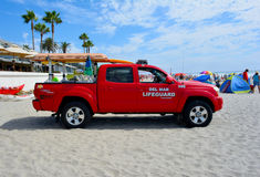 Del Mar Beach Lifeguard Rescue medel Royaltyfri Fotografi